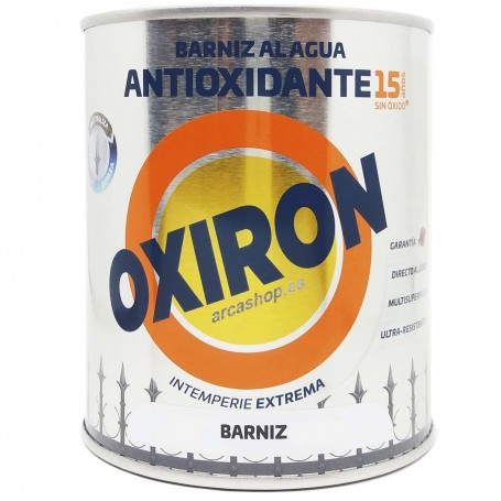 Oxiron Barniz Antioxidante  Al Agua de Titanlux. Barnizar Aluminio, hierro, acero, galvanizados.