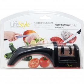 Afilador Rápido de Cuchillos con Mango, marca Life Style: Afilador manual usado para afilar todo tipo de cuchillos de cocina.