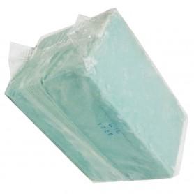 Jabón natural artesano con aceite de oliva en taco pastilla,  jabón verde 100% artesano, ecológico y biodegradable.