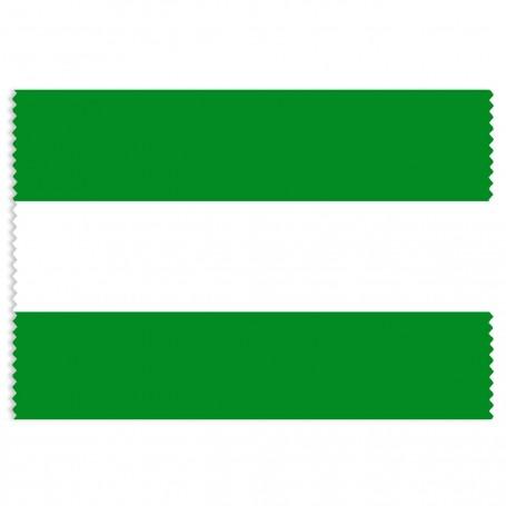 Tela Bandera Andalucía rollo 35 metros por 80 cm de ancho sin escudo. 100% poliester.