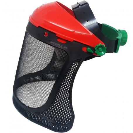 Protector Facial Rodeo 4360 Personna: Casco con malla metálica para proteger la cara en tareas de poda del jardín.
