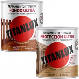 Titanxyl Lasur Fondo Ultra Y Titanxyl Protección Total Ultra: Ambos son líquidos protectores para maderas en exterior