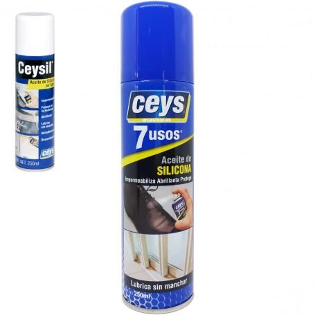 Aceite de Silicona de Ceys: abrillantador de calzados de piel, lubricante ventanas y puertas transparente.