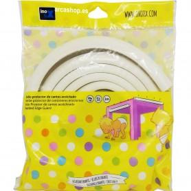 Protector de cantos/esquinas para bebés y niños pequeños Inofix. Burlete Acolchado Blanco para golpes.  Cinta adhesiva.