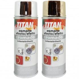 Spray Metalizado Oro y Plata Titanlux Efecto Espejo Brillante (Spray Efecto Cromado Titan)
