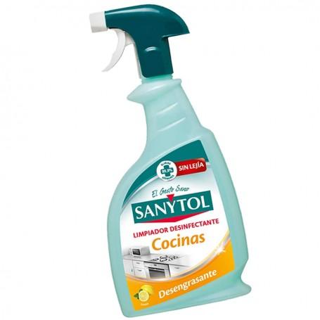 Sanytol Cocinas Limpiador desinfectante desengrasante Sin Lejía