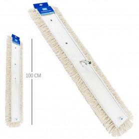 Mopa Limpieza 100 cm (con bastidor metálico) y Mopa Recambio 100 cm x 15 cm.