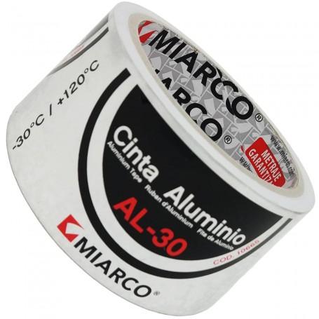 Cinta Aluminio Miarco Al-30 Tubos Chimeneas y Estufas Miarco. Cinta Aluminio Miarco Al-30.