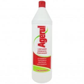 Agerul Amoniacal Perfumado: limpiador multisuperficies y multiusos, alfombras, tapicerías, cristales, joyería, metales, suelos.