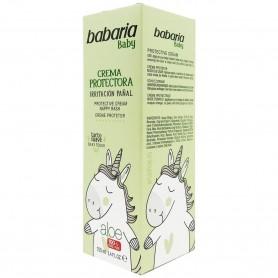Crema Irritación Pañal Bebés (Crema protectora) Babaria Baby con Aloe Vera 100% Vegano ecológico.
