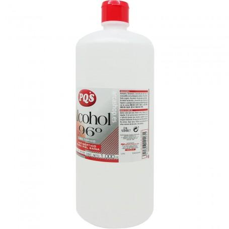 Alcohol Etílico 96º PQS Alcohol Sanitario. Botellas de 1 litro.