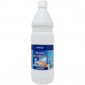 Alcohol de limpieza Perfumado Dirna 1 litro. Ono apto para uso sobre la piel (sanitario).