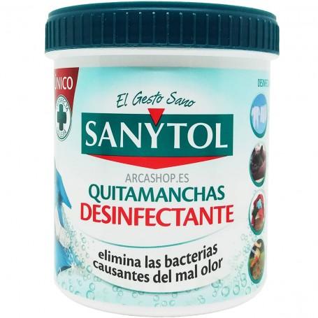 Quitamanchas Sanytol Desinfectante Textil y Elimina Olores. Polvo Sanytol Quitamanchas y desinfectante 450