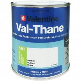 Esmalte Laca Acrílico Satinado Blanco VAL-THANE Poliuretano Valentine