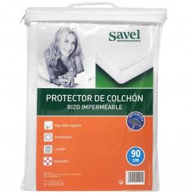 Protector de Colchón Rizo Impermeable y Ajustable (Funda Colchón)