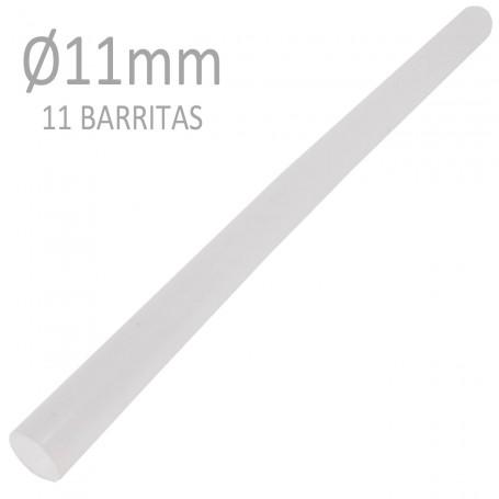 Barrita Silicona Caliente 11 mm Termoencoladora Transparentes