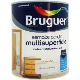 Bruguer Acrylic Blanco Satinado Esmalte Multisuperficie al agua.