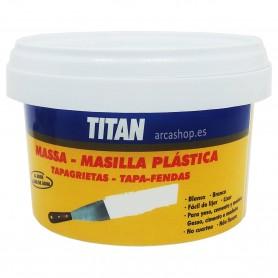 Masilla Tapagrietas Titan (masilla pintor al agua) para reparar fisuras, desniveles y alisar grietas o agujeros.