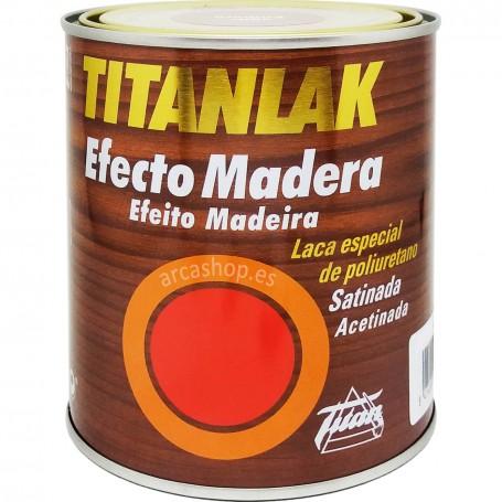 Titanlak Esmalte Laca poliuretano Satinado Efecto Madera: Roble, Nogal, Caoba, Wengué, Ceniza, Embero, Sapeli.