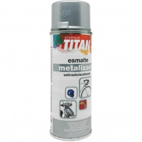 Spray Metalizado Plata 601 Satinado Titanlux