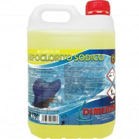 Hipoclorito Sódico, garrafa 5 litros Piscinas. Cloro Líquido limpieza y piscinas.