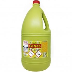 Lejía Amarilla Gines Garrafa 4 litros