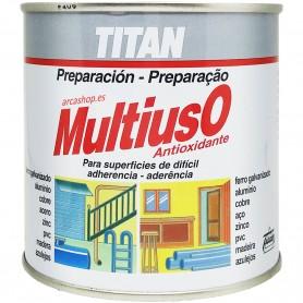 Imprimación Sintética Multiusos Titan Antioxidante: Hierro, Galvanizado, PVC, zinc, latón, aluminio, cobre, madera y azulejos.
