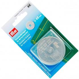 Recambio Cuchilla Standard Circular de 45 mm Ø para cutter circular/rotativo de costura PRYM.