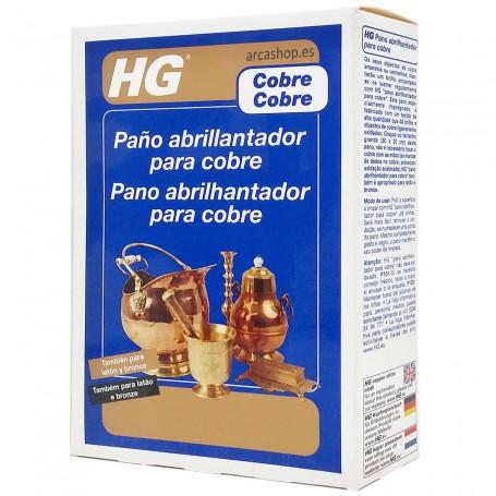 Gamuza abrillantadora Cobre, Bronce y Latón HG. También llamada bayeta o paño para latón, cobre y bronce.
