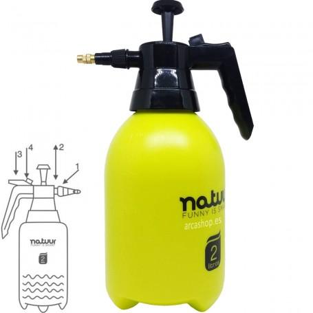 Pulverizador Presión 2 litros Natuur Jardín. Presión con gatillo.