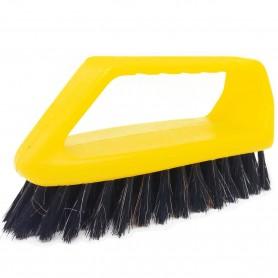 Cepillo Plancha, con mango y pelo semi blando, para limpiar tejidos, sofás, zapatos o tapizados.
