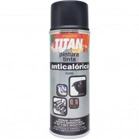 Esmalte Anticalórico Spray Mate Titanlux TITAN, en rojo, negro, blanco y aluminio, envases de 200 ml.