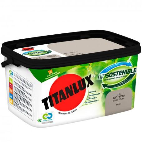 Pintura Plástica Titanlux Ecológica Biosostenible Paredes y Techos Interior/Exterior Blanco Mate y Colores.