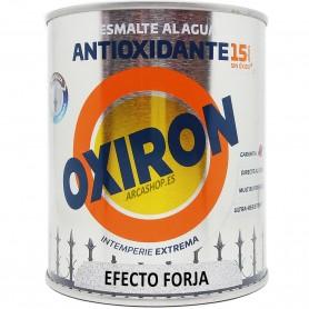 Oxiron Forja al Agua Esmalte Antioxidante Titanlux: gris acero, negro, rojo oxido, marrón óxido y verde bronce.