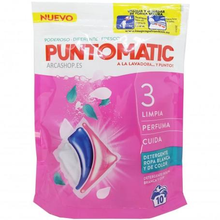 Cápsulas PuntoMatic Doble Acción,  detergente líquido en cápsulas para la lavadora y lavado de ropa.