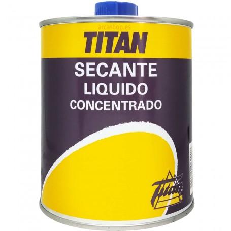 Secante Líquido Concentrado Titan para aceite de linaza, pinturas grasas, barnices y esmaltes sintéticos.