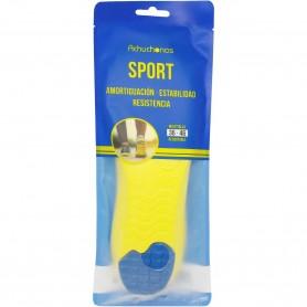 Plantilla Sport Amortiguación Impactos Recortable 36-46, para todo tipo de calzado deportivo, mantiene el pie seco.