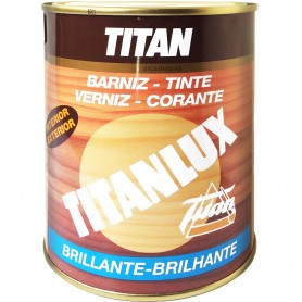Barniz Tinte Titanlux acabado Brillante para maderas 750 ml