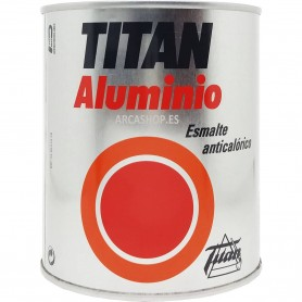Esmalte Aluminio Anticalórico Titan, Esmalte interior e exterior elementos de calefacción.
