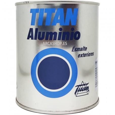 Esmalte Aluminio Exteriores Titan ideal para postes eléctricos, grúas, rejas, puentes, gasómetros, puertas metálicas, etc.