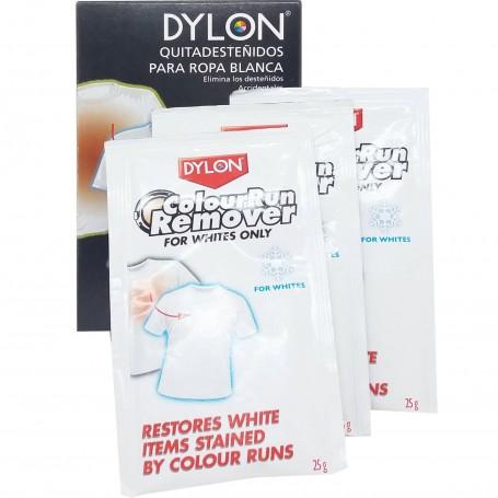 Quitadesteñidos Ropa Blanca Dylon, eliminar manchas de desteñidos sobre la ropa blanca.