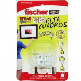 Fija Cuadros de Fischer, permite colgar cuadros y otros objetos sin usar clavos ni taladros. Rápido y fácil,