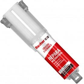 Adhesivo Transparente dos Componentes Fischer Repara Multimaterial