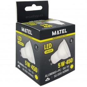 Lámpara GU-10 LED Dicroica MATEL