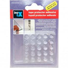 Tope Gota Transparente Adhesivo Pequeñas Ø8 mm, también disponible las gotas adhesivas transparentes Ø12,7 mm y grandes Ø19 mm.