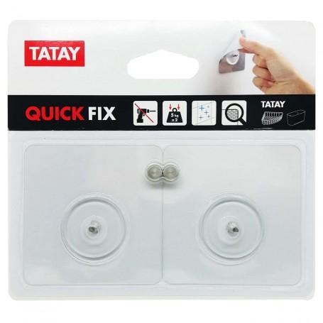 Soporte de Fijación Tatay (Kits de Fijación Quick Fix) Set baño Quickfix para cesta rejilla.