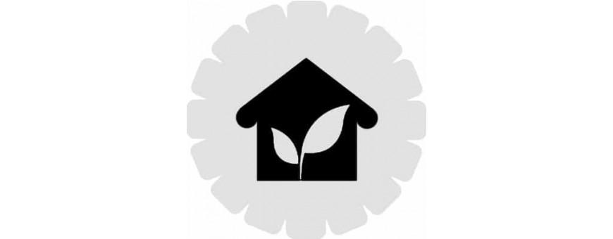 Casas, casetas e Invernadero