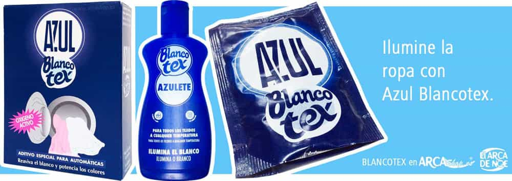 ce9c3c44b2f76 Azul Blancotex Azulete. Aditivo Lavadora Azul Añil. En sobres y Liquido.