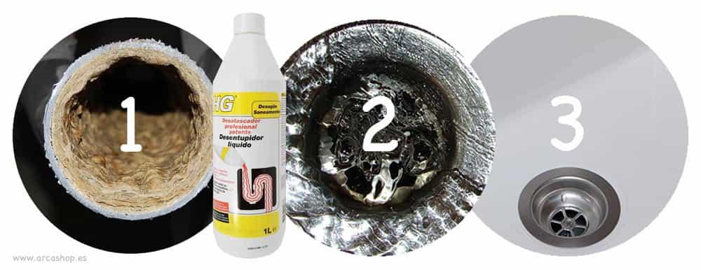 Desatascador l quido potente hg bote amarillo 1 litro - Desatascador de tuberias a presion ...