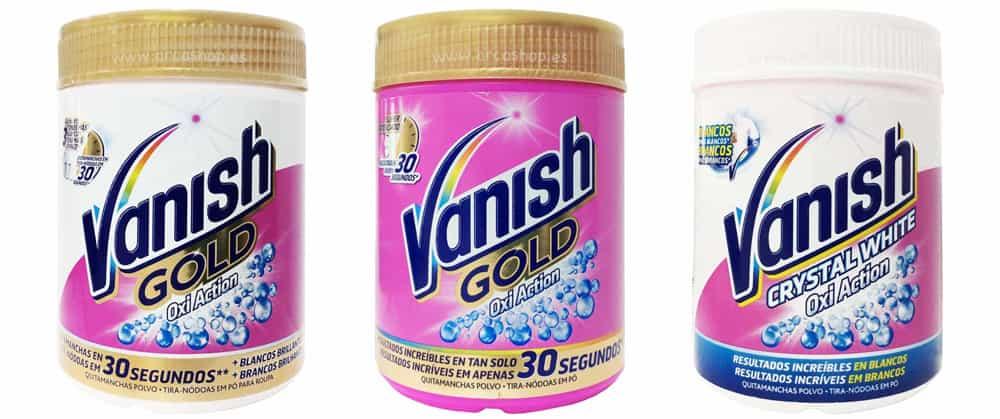 Quitamanchas En Polvo Vanish Gold Oxi Action White Y Vanish Oxi  ~ Quitar Pintura Plastica De La Ropa